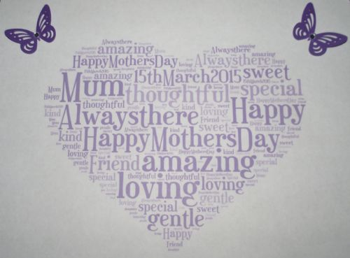 Mothers Day Word Art Keepsake
